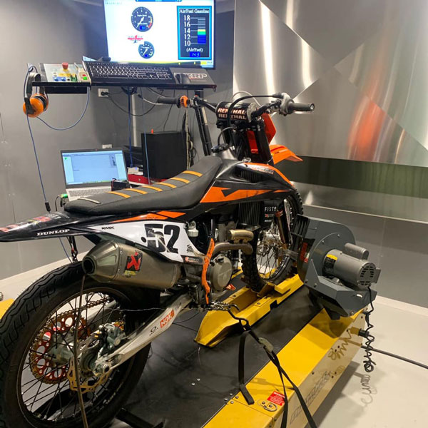 getdatait RX1 PRO ECU fitted to this KTM350SXF, 366cc big bore kit
